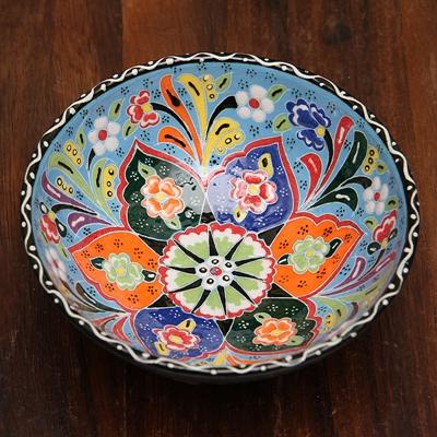 土耳其彩釉陶瓷果盘 (多用).