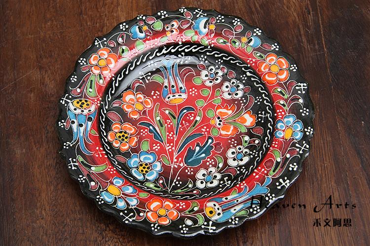 土耳其彩釉陶瓷果盘