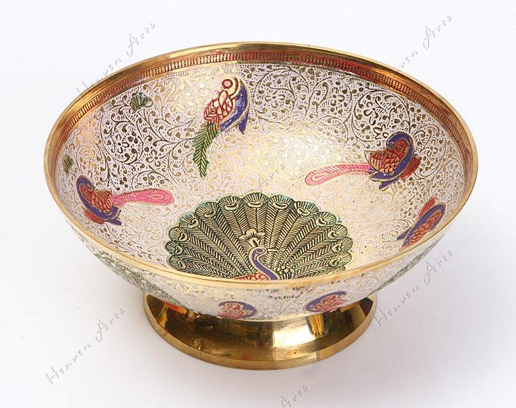 印度手工彩绘果盘