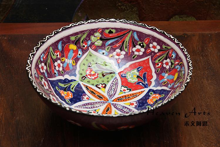 土耳其彩釉陶瓷果盘 (多用)