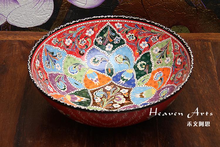 土耳其彩釉果盘(多用)
