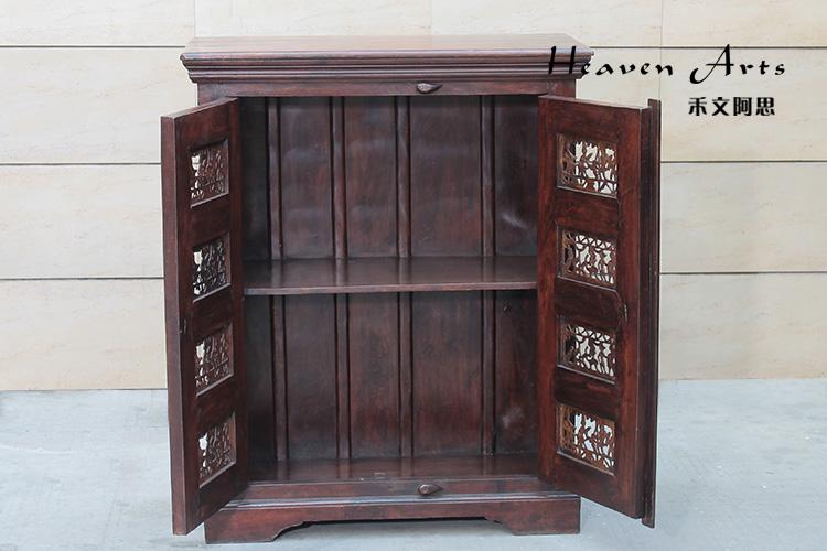 精雕老柚木柜子