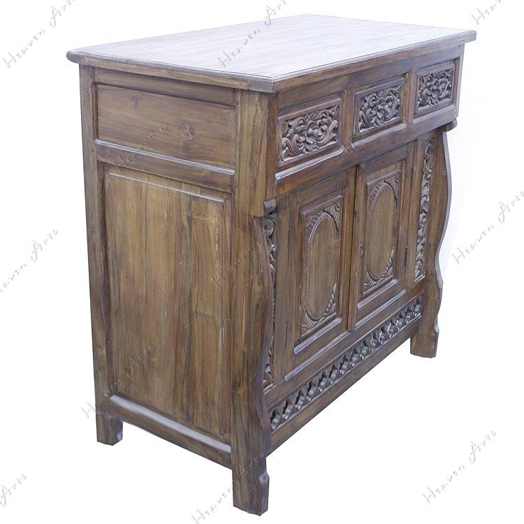 印度手工柚木柜子 - 家具