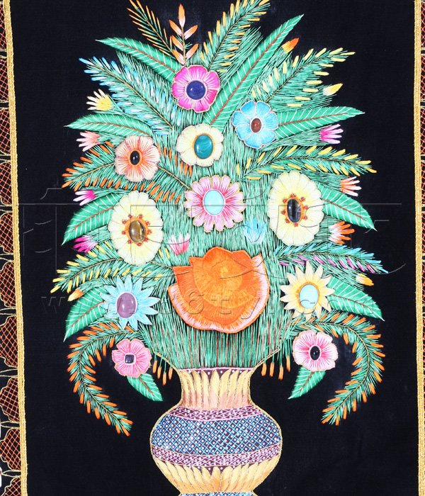 手绘丝巾壁毯设计