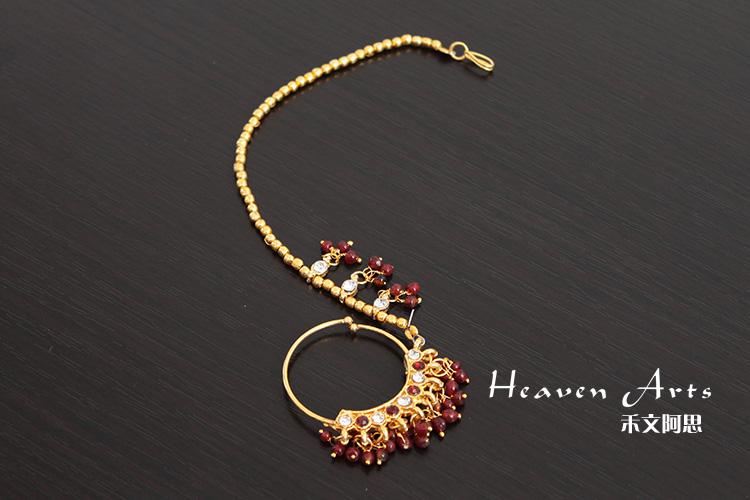 东北有椺&$z~Y��&_印度美人链--鼻环