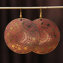藏式耳环图片