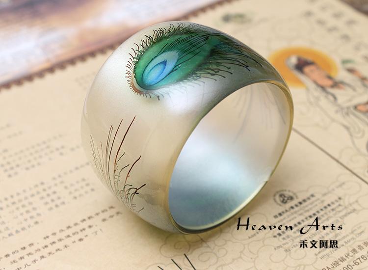 奇幻风景树脂戒指图片