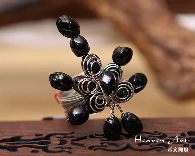 串珠戒指图解串珠转运珠戒指图解 串珠蝴蝶结戒指图解3;