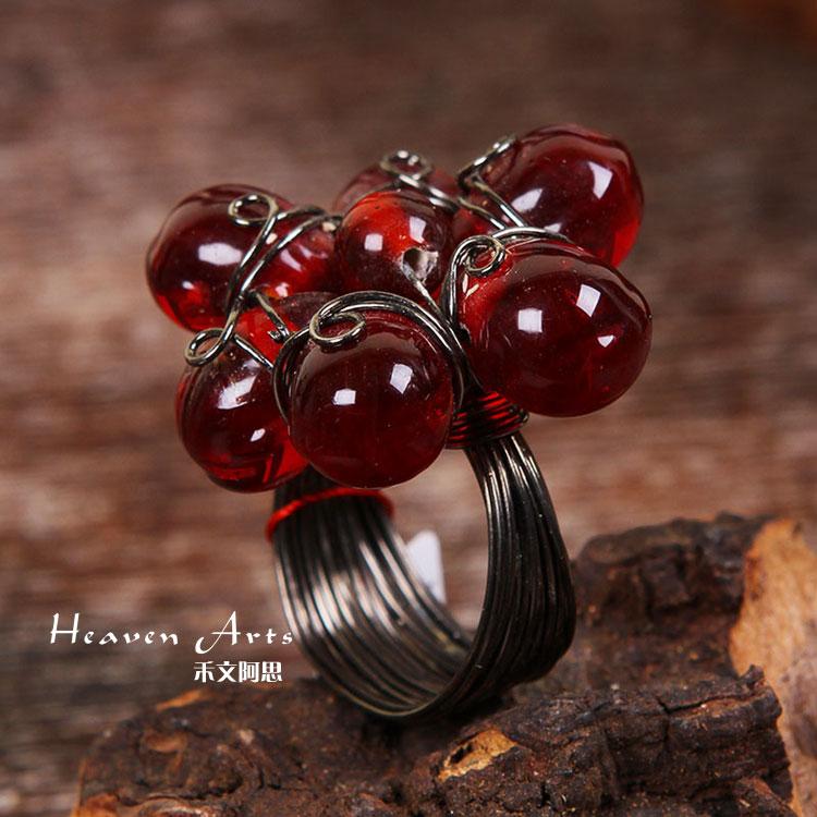 印度手工串珠戒指