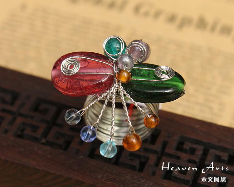 印度手工串珠戒指 - 戒指