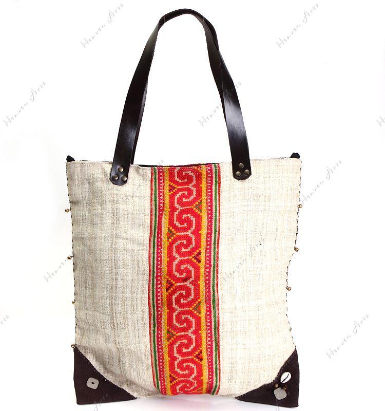 双面十字绣挎包 - 布艺包包