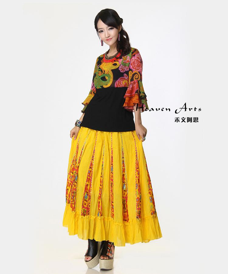印巴风情服饰 马萨拉雪纺系列中袖上衣