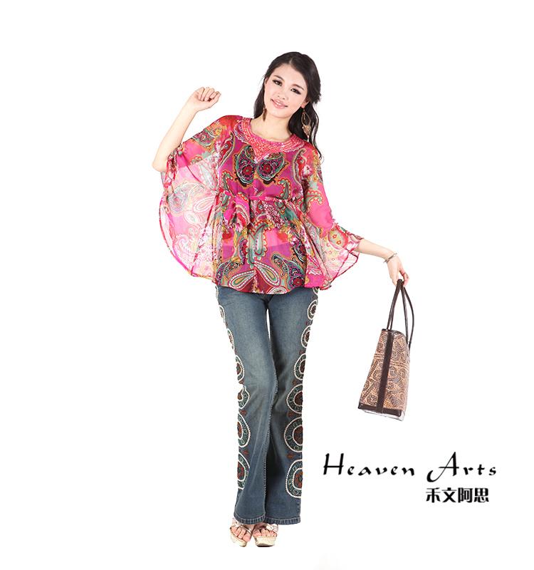 彩花蝙蝠纱衣 - 衣服 - 印巴服装,HeavenArts 禾文阿思异域风情手工精品专卖店