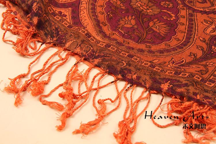 印度彩花围巾