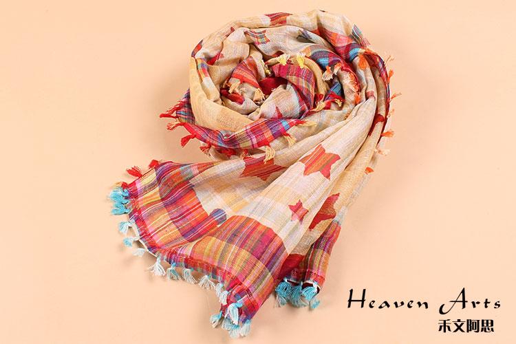 星空围巾 - 丝巾 - 印巴服装,heavenarts 禾文阿思图片