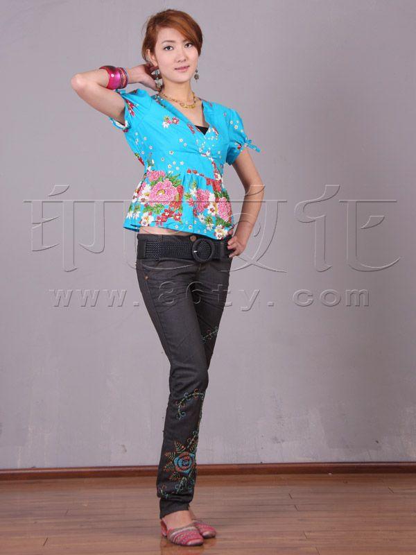 手工布艺 - 裤子 - 时尚牛仔裤