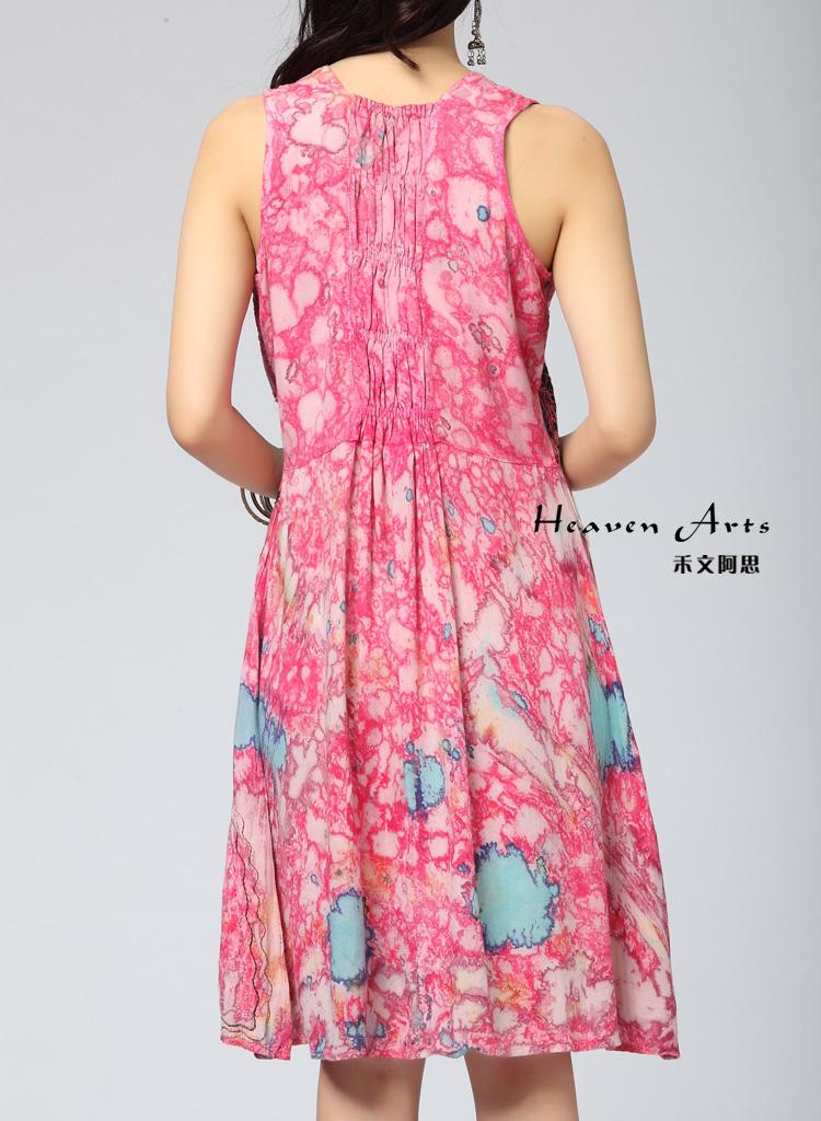 扎染连衣裙 - 裙子 - 印巴服装