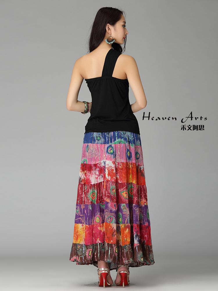 拼花孔雀裙 - 裙子 - 印巴服装
