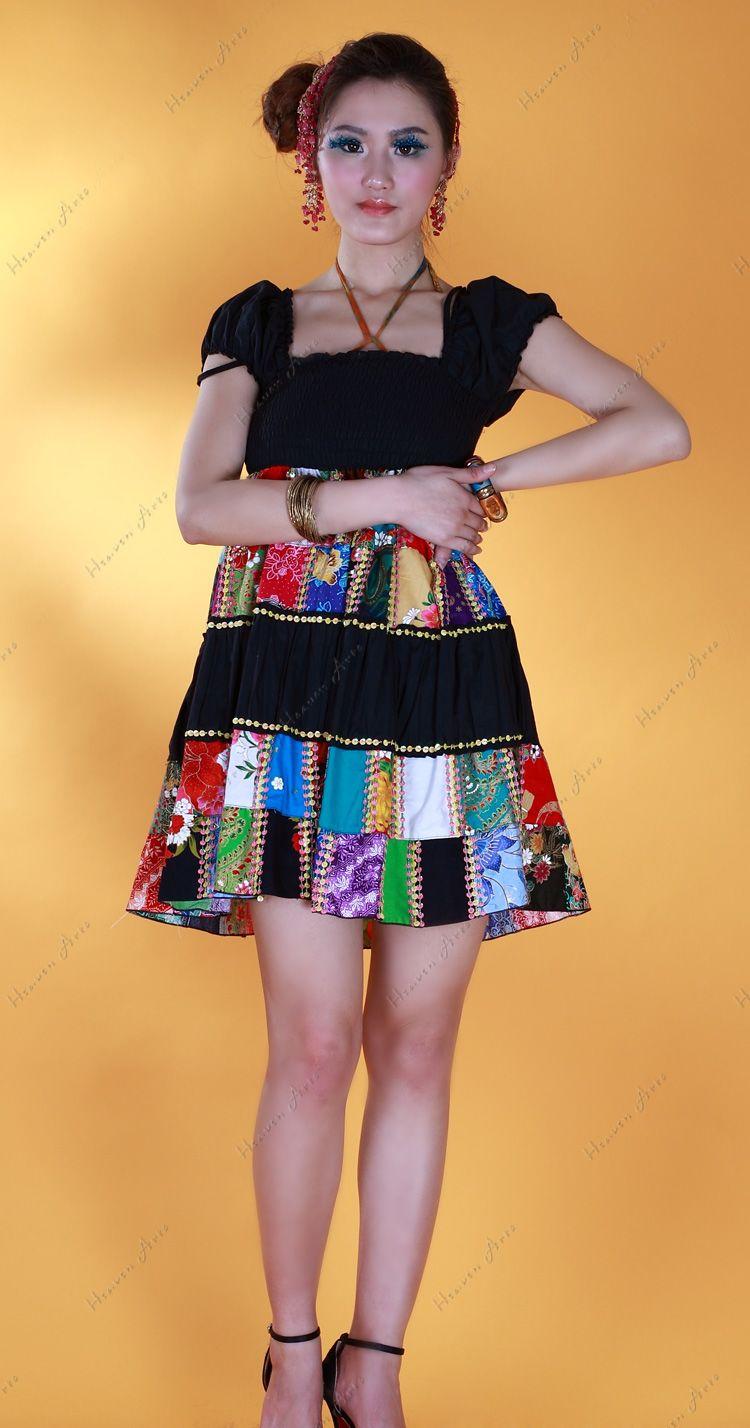 乖乖型钉珠连衣裙 - 上装 - 印巴服装,HeavenArts 禾文阿思 艺术天堂异域风情手工精品专卖店