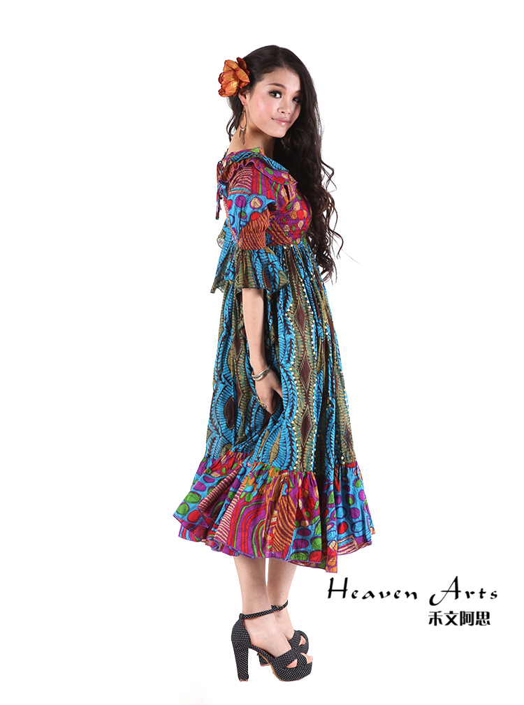 欧式宫廷连衣裙 - 裙子