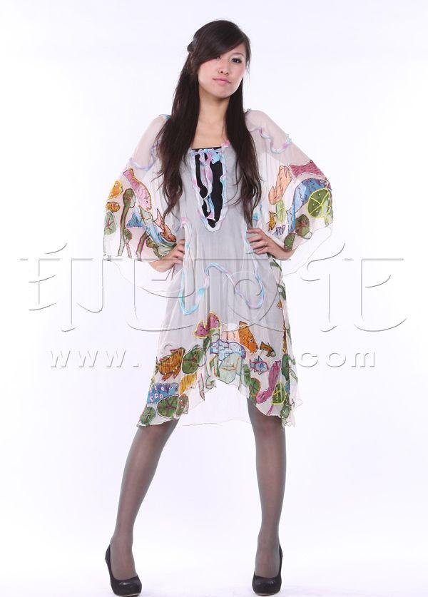 手绘绣亮片连衣裙 - 裙子 - 印巴服装,heavenarts 禾