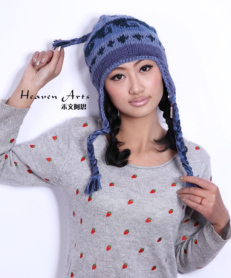 帽子  手工针织帽子