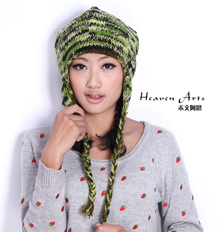 手工针织帽子 - 帽子