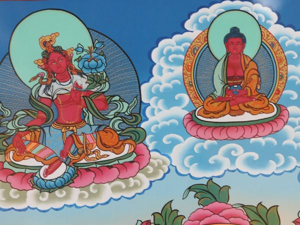 手绘q版藏族少女