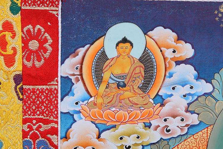 印度手绘风格唐卡