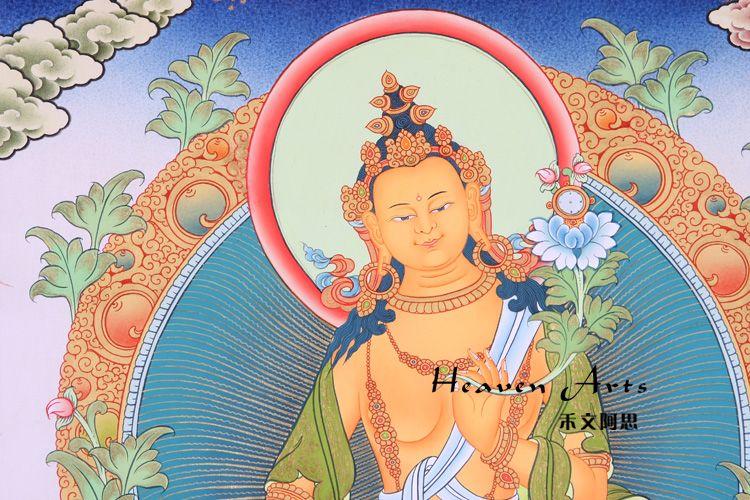 印度手绘唐卡-弥勒佛