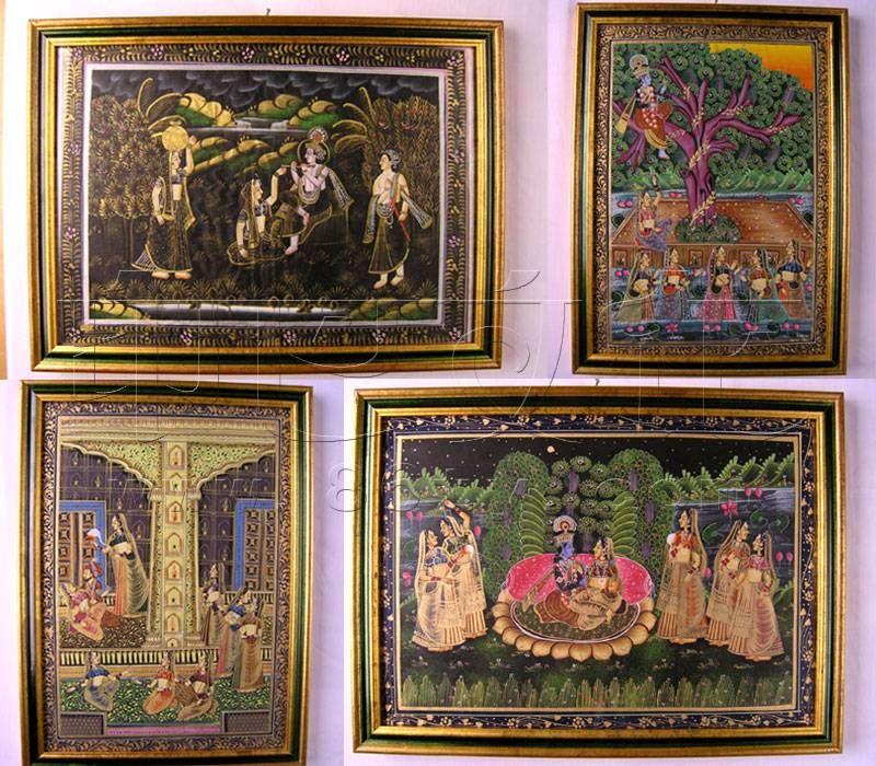 印度手绘画 - 画 - 家具软装