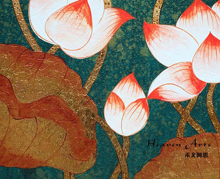 印度手工画-荷花