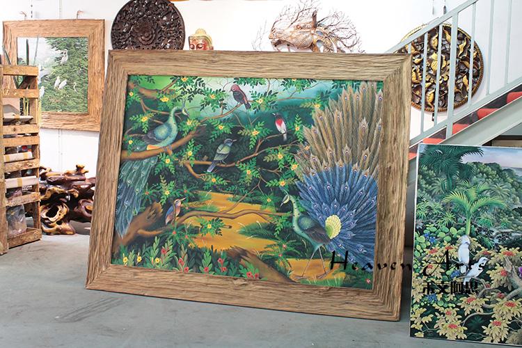 印度手绘画-孔雀 - 印度画 - 摆件家具,heavenarts 禾