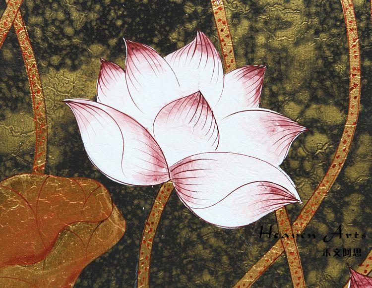 印度手工画-荷花(套)收藏