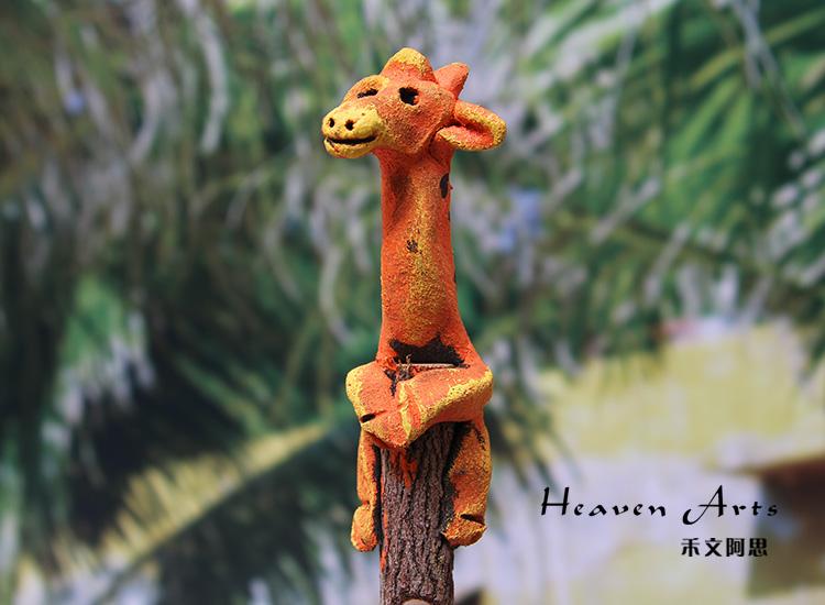卡通铅笔(长颈鹿)-动物派对
