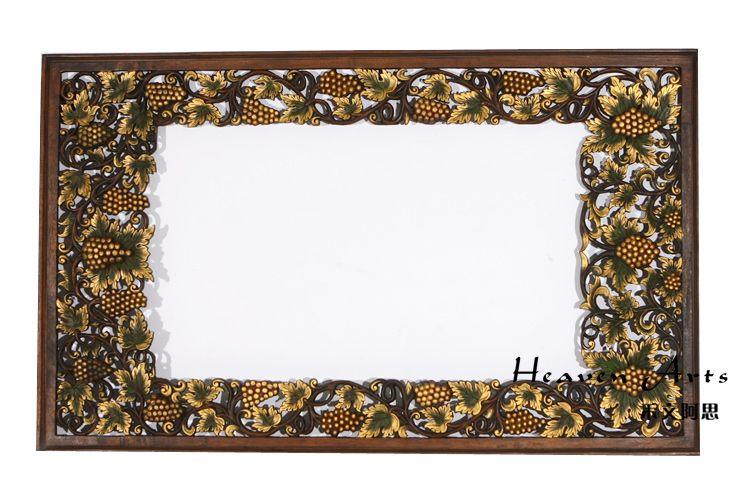 柚木雕花挂饰图片
