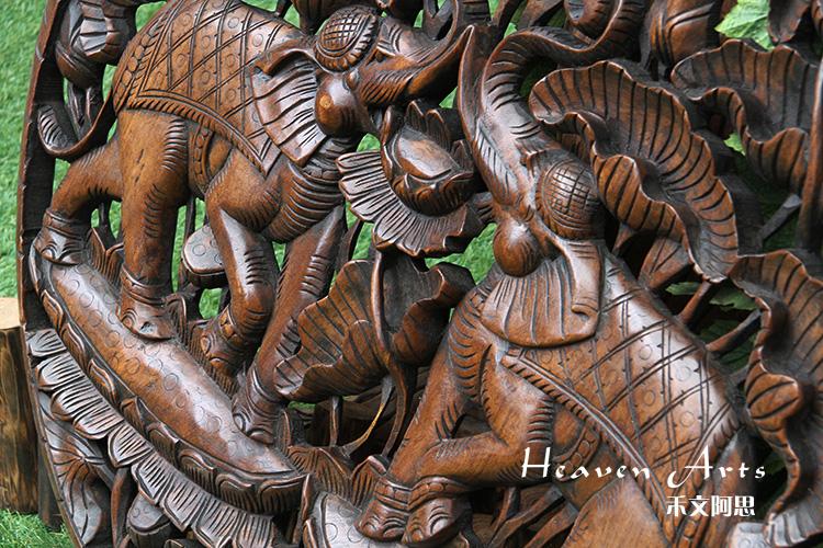 柚木雕花挂饰(象)