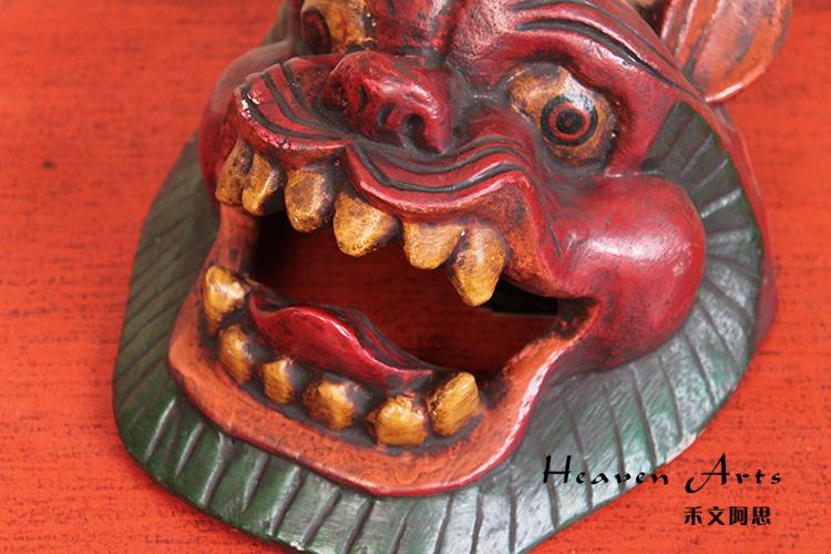 菩提木彩绘面具 虎