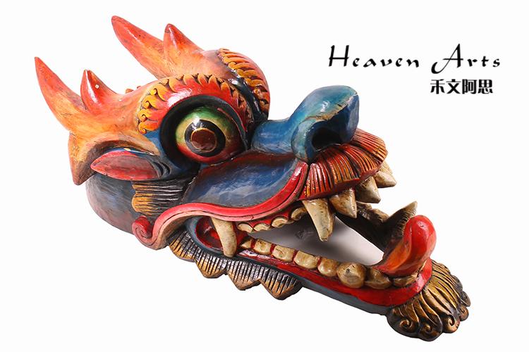 菩提木彩绘面具(龙)