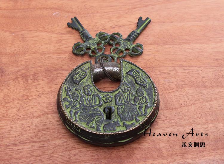 古代圆形锁