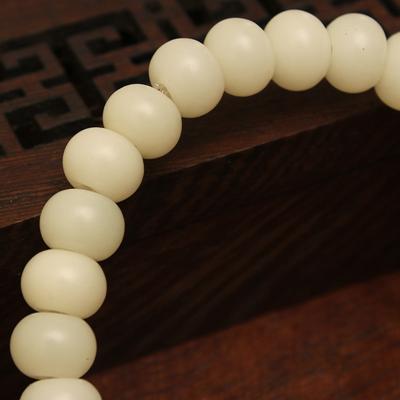 白菩提根苹果珠配绿松石戴珠0.8*0.6cm