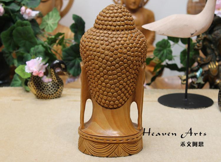 木雕佛头(释迦牟尼)