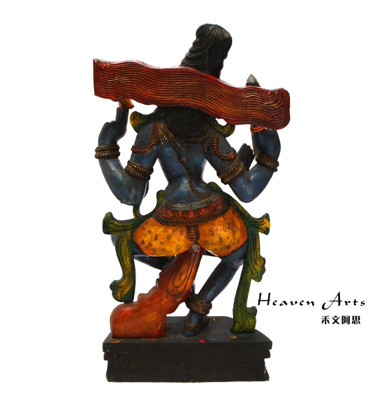 木雕女佛像